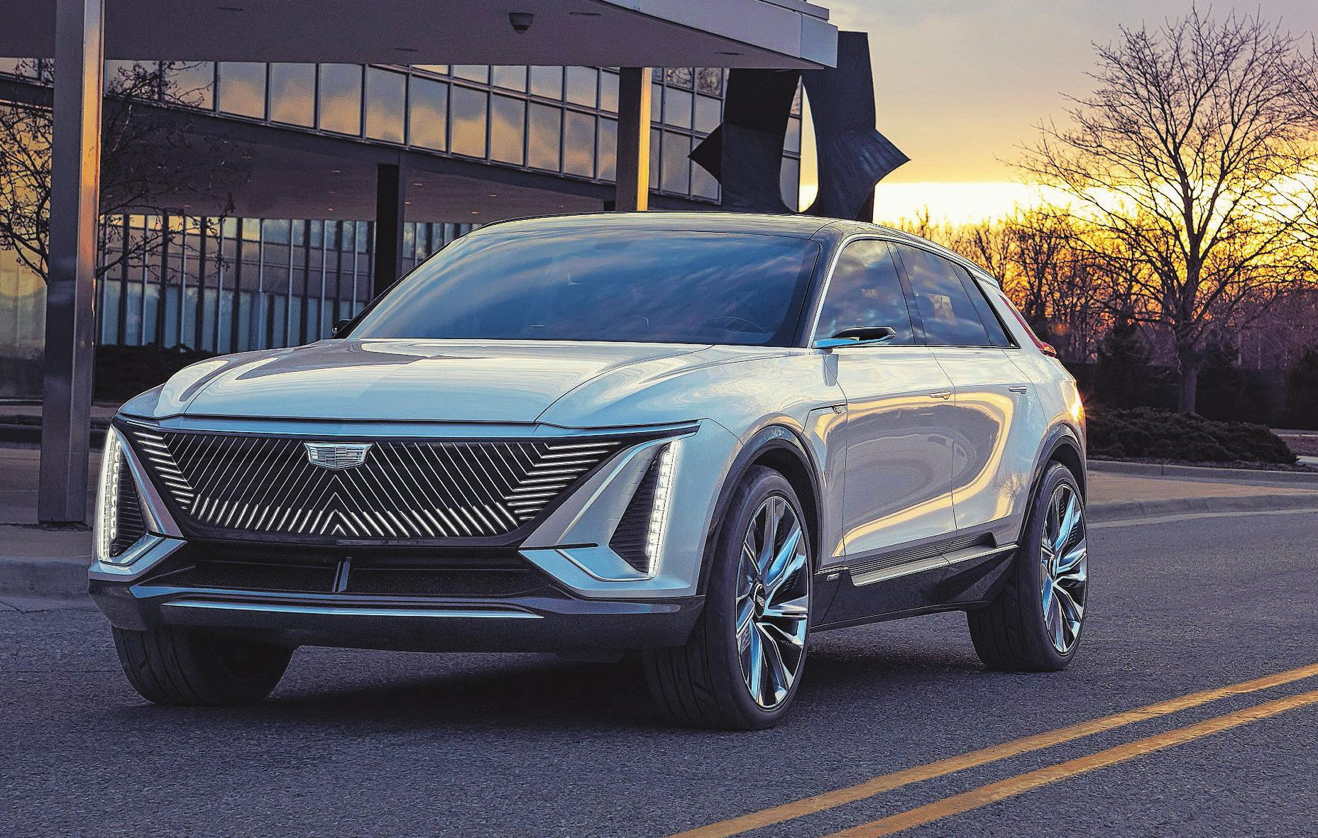 Noch ist der Cadillac Lyriq eine Studie – der Hersteller nennt das Design aber schon «sehr seriennah». Bild: Cadillac