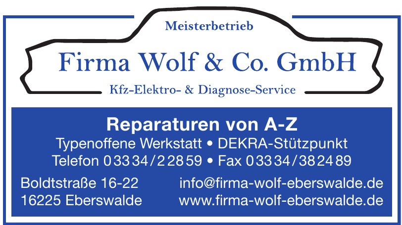 Firma Wolf & Co. GmbH
