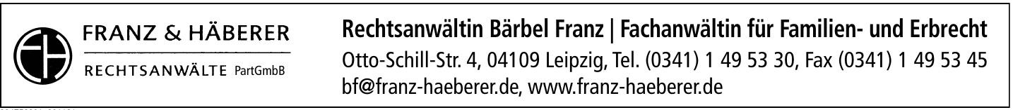Rechtsanwältin Bärbel Franz / Fachanwältin für Familien- und Erbrecht