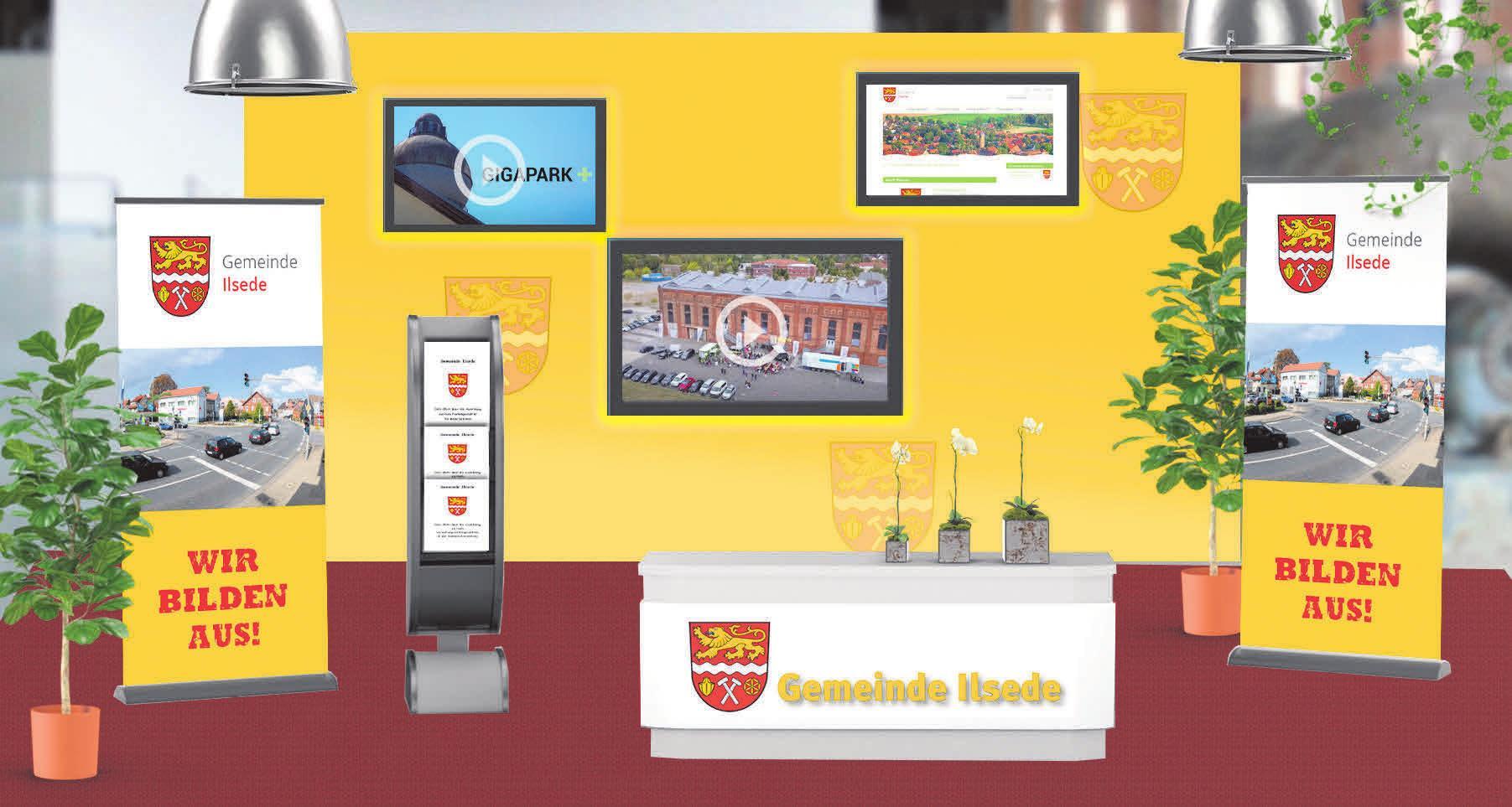 Der virtuelle Stand der Gemeinde Ilsede.
