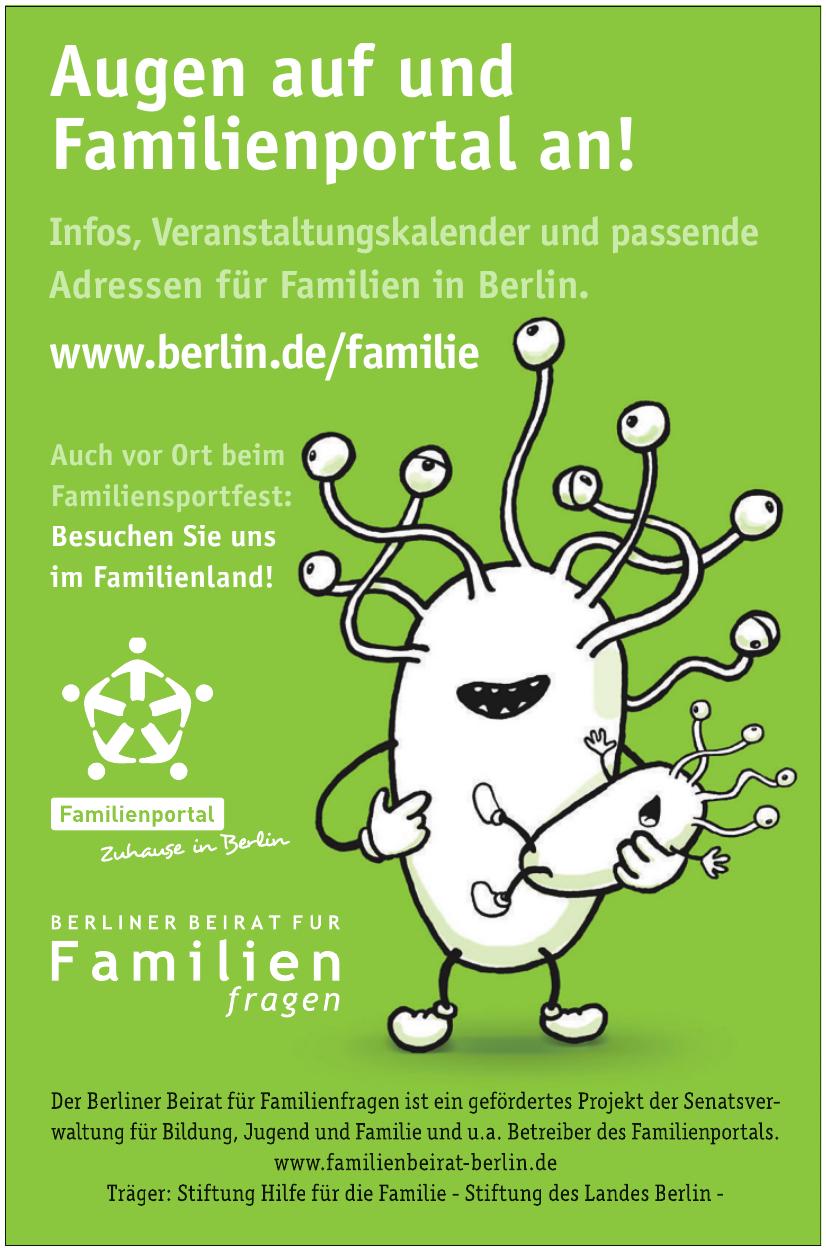 Berliner Beirat für Familien Fragen