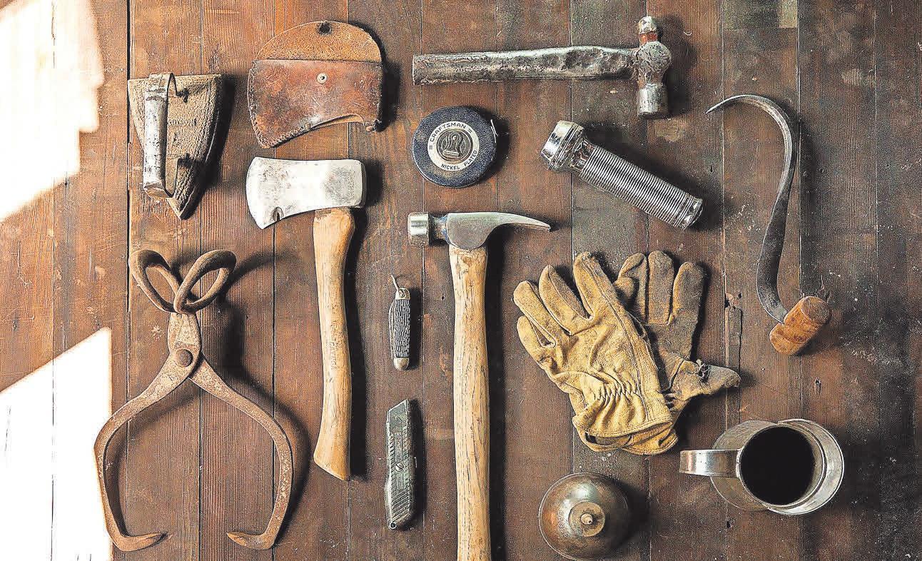 Alle Werkzeuge an einem Platz sorgen für Übersichtlichkeit und Ordnung.