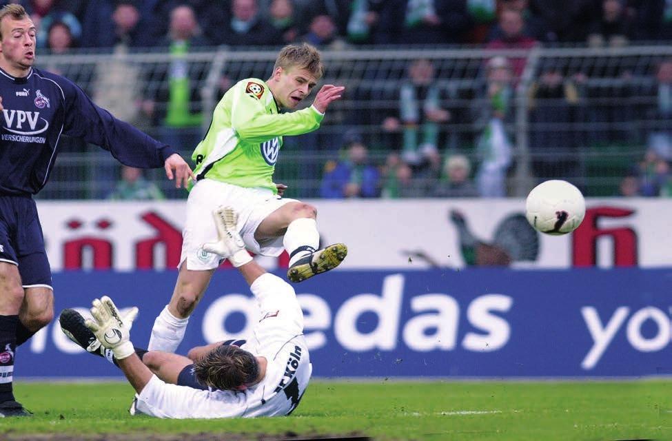 Auch in der Bundesliga kam Rau auf genau ein Tor - 2002 gegen den 1. FC Köln