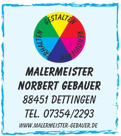 Malermeister Norbert Gebauer