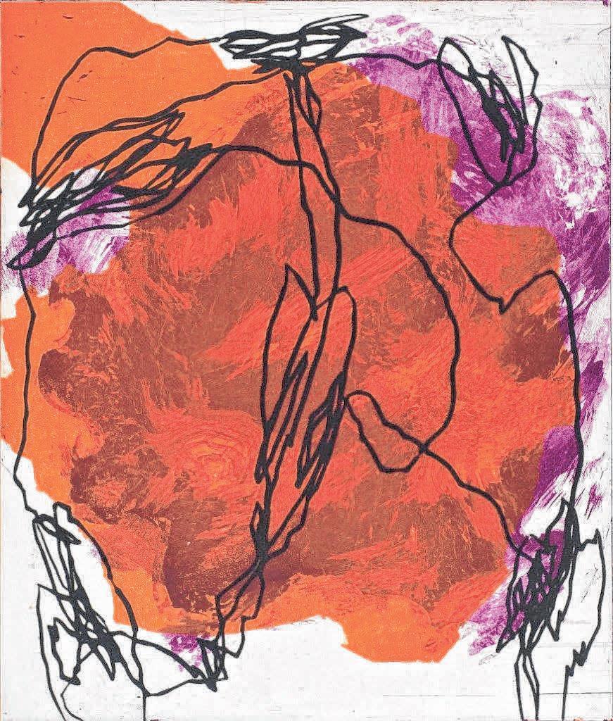Eine Farbradierung von Jo Bukowski. FOTO: PRIVAT