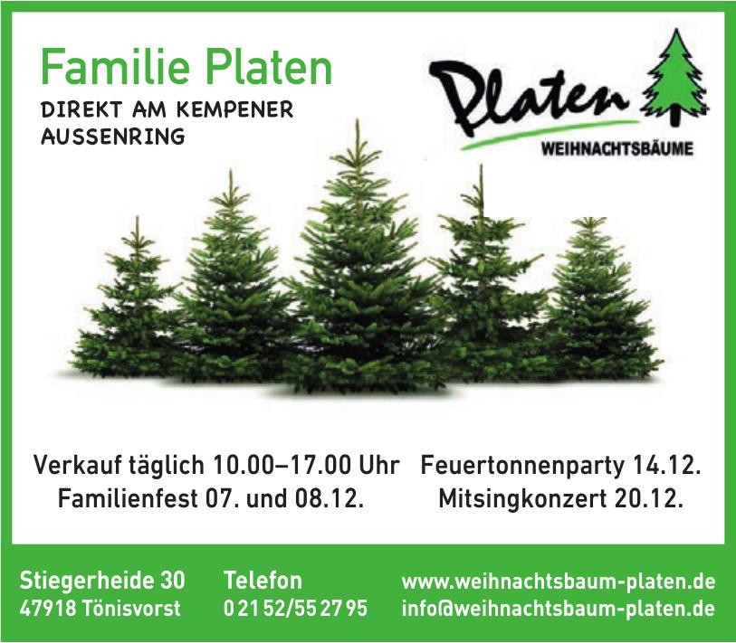 Familie Platen Weihnachtsbäume