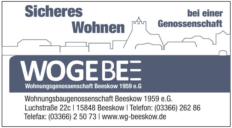 Wohnungsbaugenossenschaft Beeskow 1959 e.G.