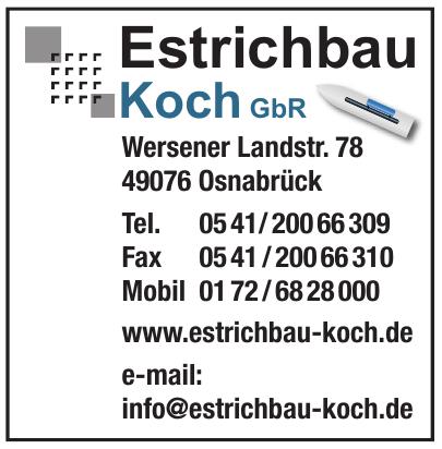 Estrichbau Koch GbR