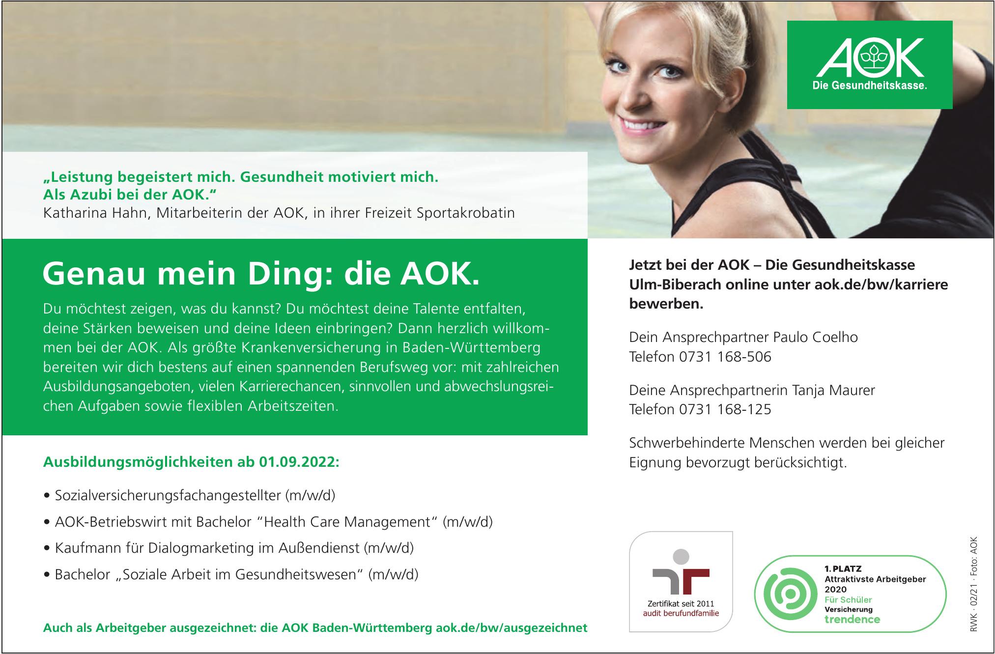 AOK – Die Gesundheitskasse Ulm-Biberach