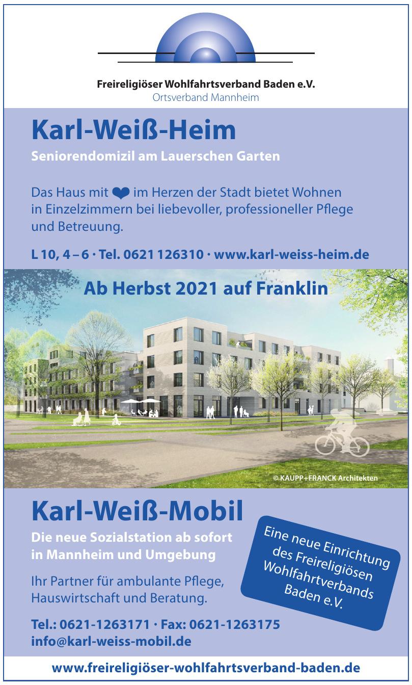 Freireligiöser Wohlfahrtsverband Baden e.V. - Karl-Weis-Heim