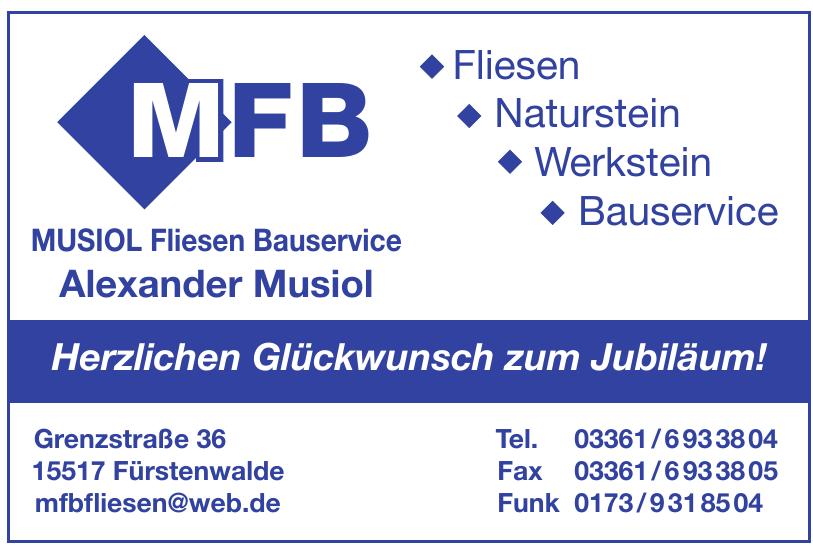 MFB MUSIOL Fliesen Bauservice