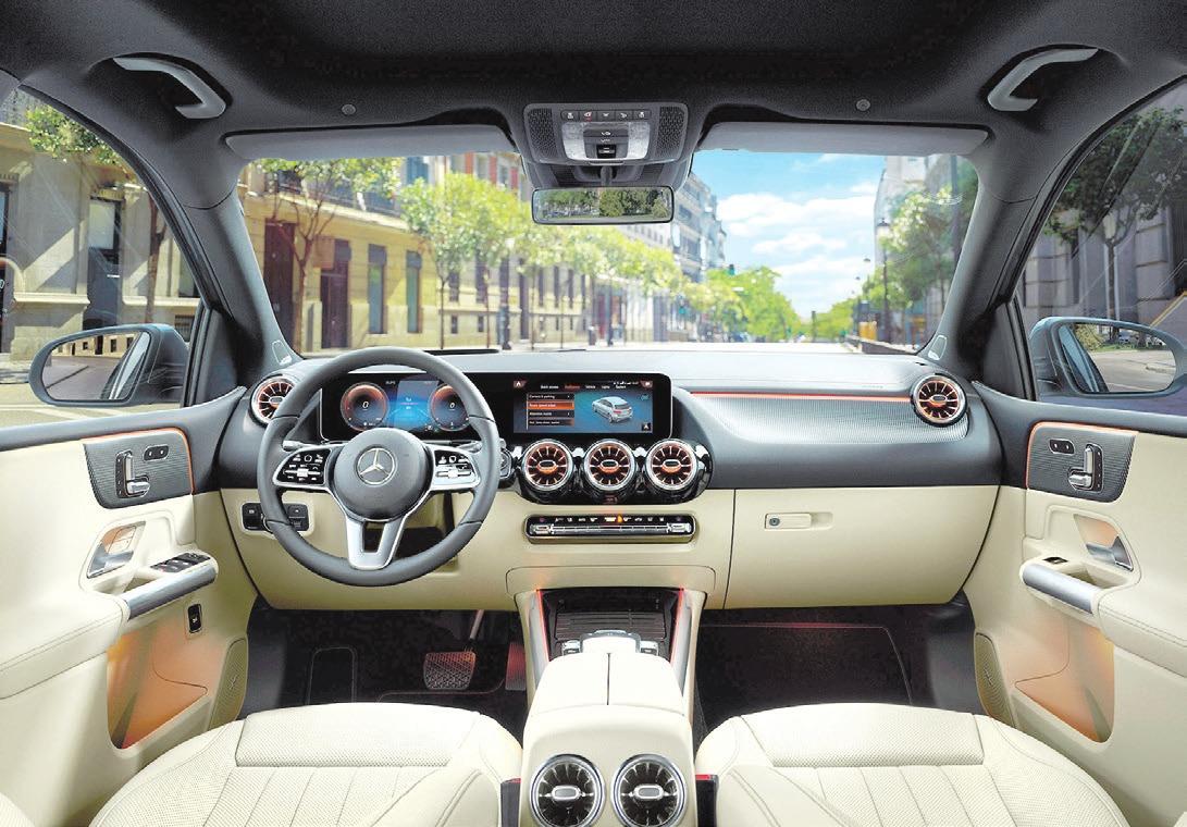 Das Interieur der neuen B-Klasse bietet viel Komfort und präsentiert sich in einem sehr edlen Design. Foto: Mercedes-Benz