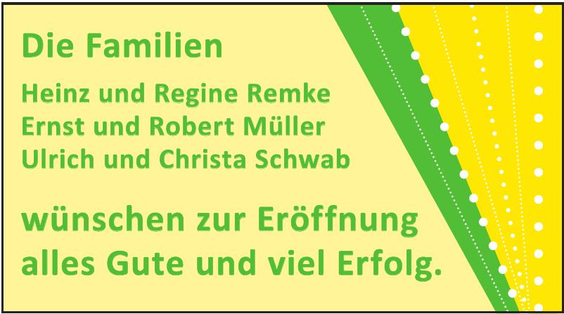 Die Familien Heinz und Regine Remke, Ernst und Robert Müller, Ulrich und Christa Schwab