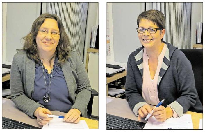 Kompetente Mitarbeiterinnen: Petra Sydow (links) und Vertriebsassistentin Sabine Meyer sind Ansprechpartnerinnen für die Versicherten und sorgen für den reibungslosen Ablauf bei deren Anliegen. Fotos: Aloys Landwehr