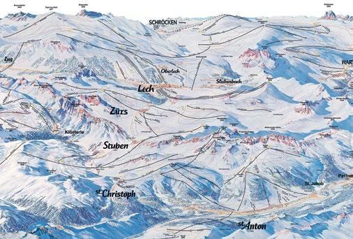 Am Arlberg sind die Ski-Gebiete Lech Zürs und St. Anton verbunden. Grafik: PR