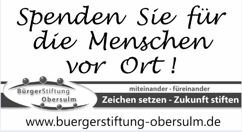 BürgerStiftung Obersulm