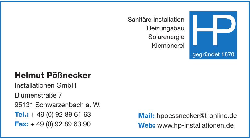 Helmut Pößnecker Installationen GmbH