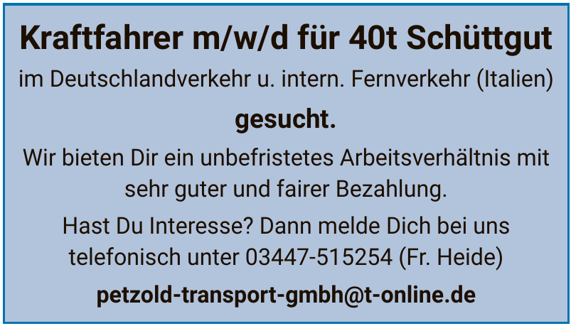 Petzold Transport GmbH
