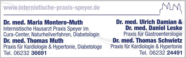 Dr. med. Maria Montero-Muth - Internistische Hausarzt Praxis Speyer im Cura-Center, Naturheilverfahren, Diabetologin