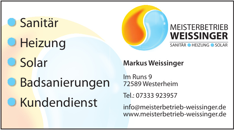 Meisterbetrieb Weissinger
