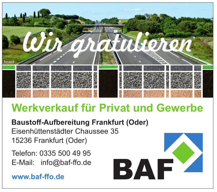 BAF Baustoff-Aufbereitung Frankfurt (Oder)