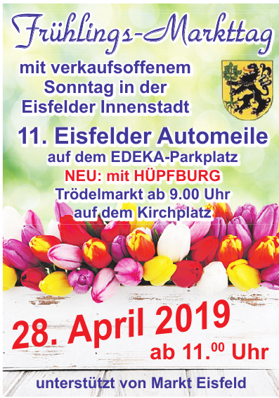 Frühlings-Markttag - 10. Eisfelder Automeile