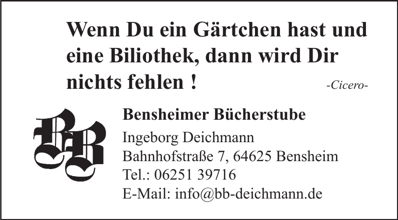 Bensheimer Bücherstube