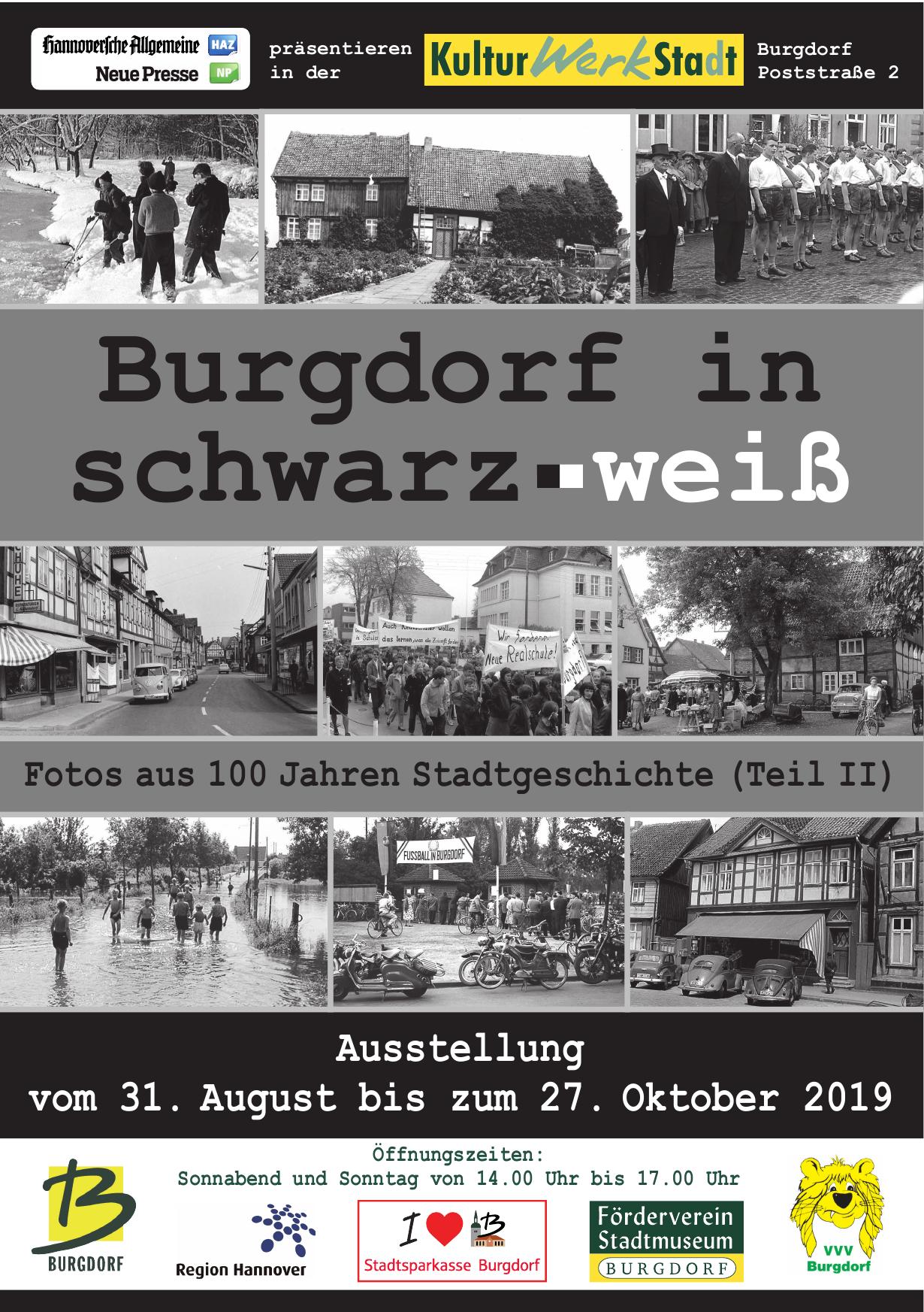 Burgdorf in schwarz-weiß