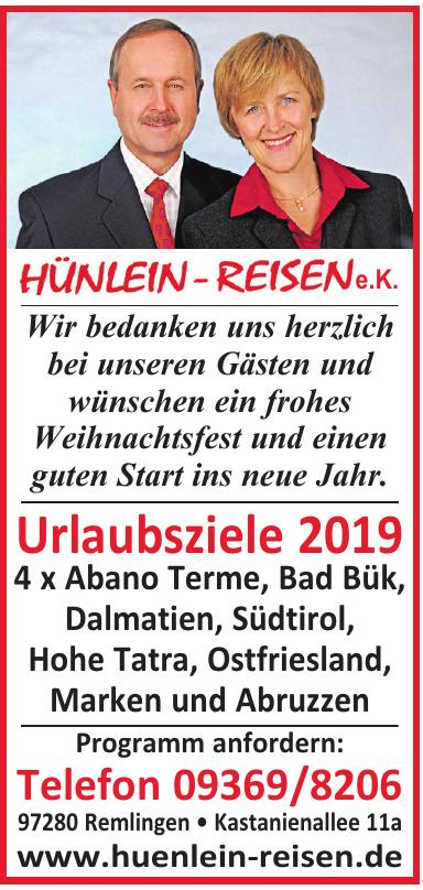 Hünlein-Reisen e.K.