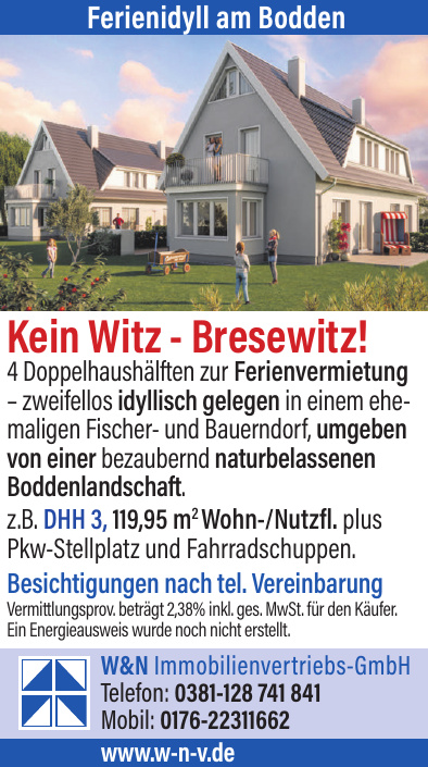 W&N Immobilienvertriebs-GmbH - Ferienidyll am Bodden