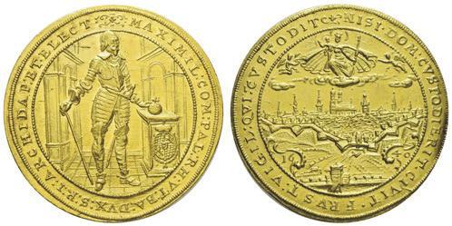 Maximilian I., 5-Dukaten-Goldstück, 1640. Foto: Auktionshaus Felzmann
