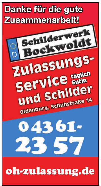 Schilderwerk Bockwoldt