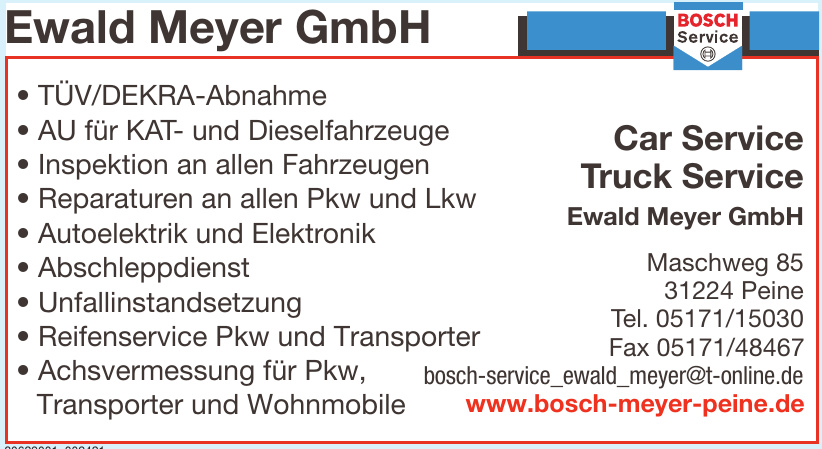 Car Service Truck Service Ewald Meyer GmbH