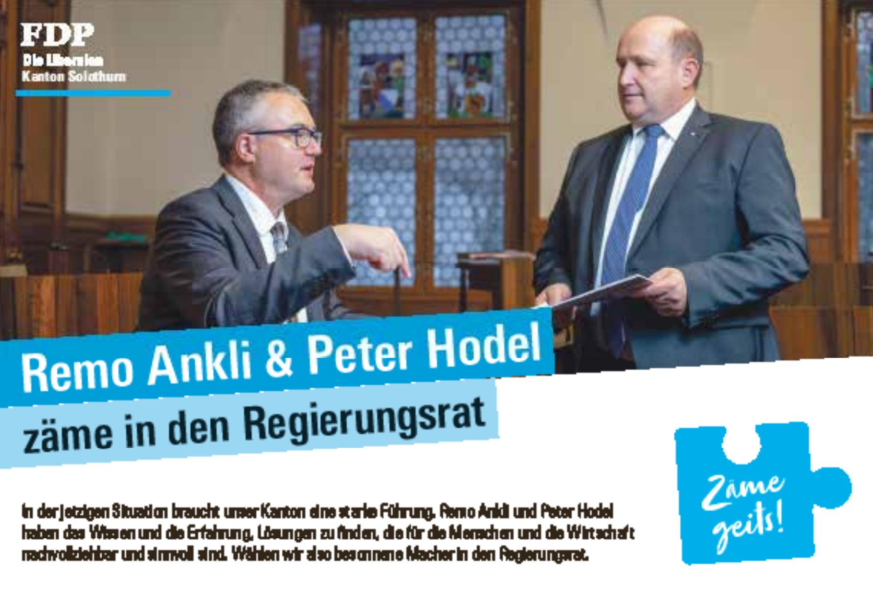 FDP - Remo Ankli & Peter Hodel