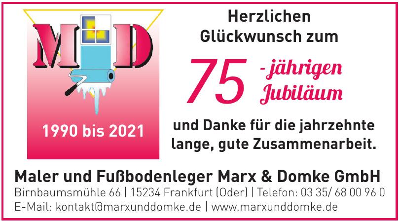 Maler und Fußbodenleger Marx & Domke GmbH