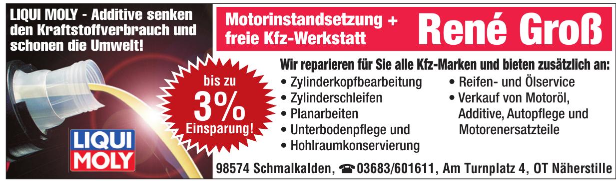 Motorinstandsetzung + freie Kfz-Werkstatt René Groß