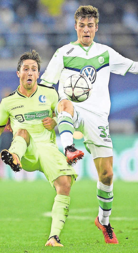Wiedersehen mit Gent: Robin Knoche (r.) und der VfL.
