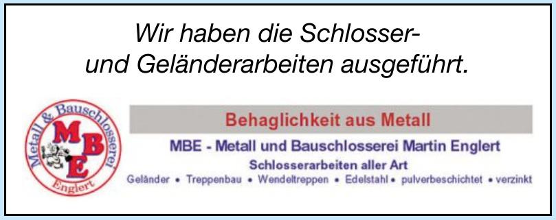 MBE - Metall und Bauschlosserei Martin Englert