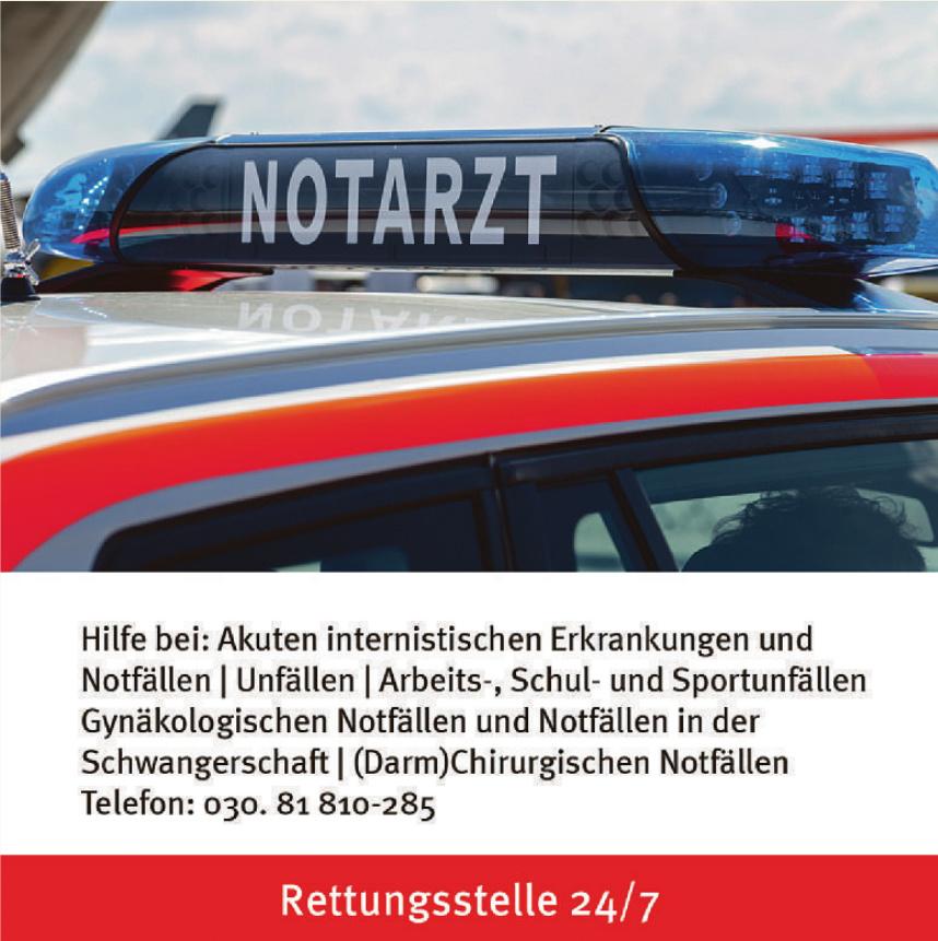 Notarzt - Rettungsstelle 24/7