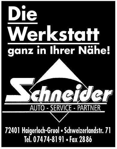 Schneider Auto-Service-Partner