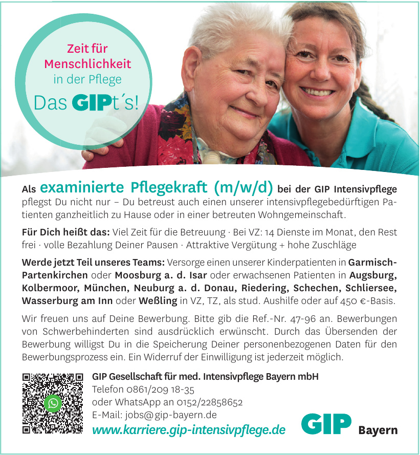 GIP Gesellschaft für med. Intensivpflege Bayern mbH