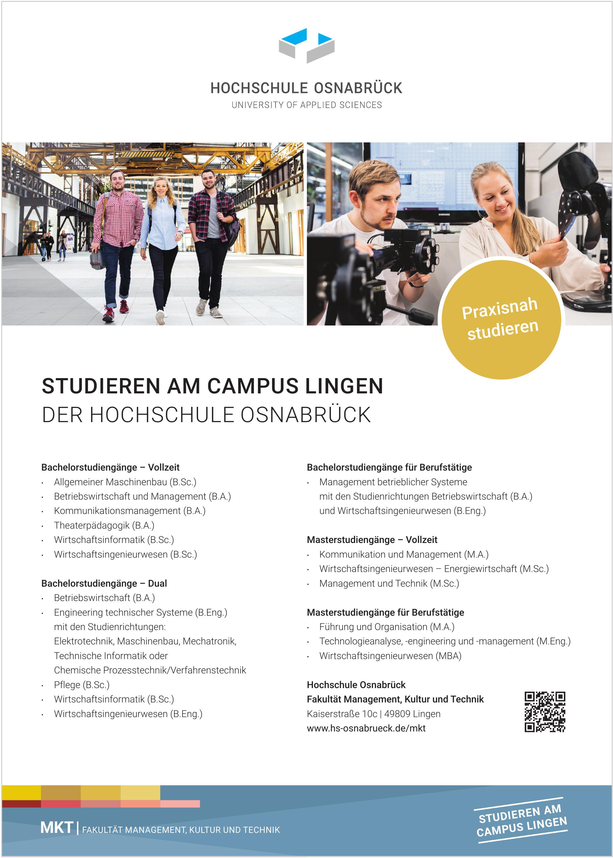 Hochschule Osnabrück - Fakultät Management, Kultur und Technik