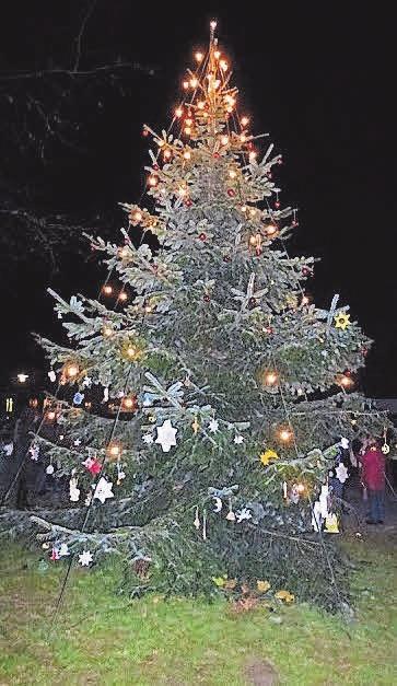 Morgen wird der Weihnachtsbaum auf dem Platz neben der Löwen-Apotheke geschmückt.