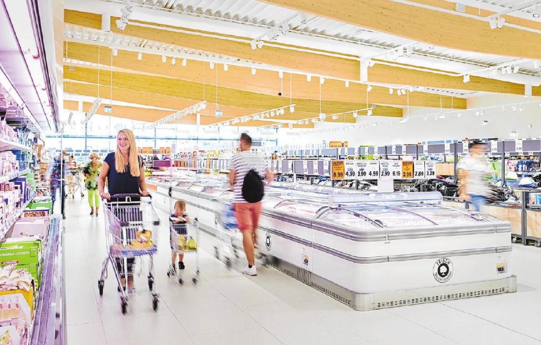 Durch die vergrößerte Verkaufsfläche von nun 1450 Quadratmetern im Gaildorfer Lidl-Discounter wurde Raum für breitere Gänge geschaffen.