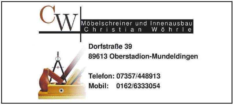 Möbelschreinerei und Innenausbau Wöhrle Christian