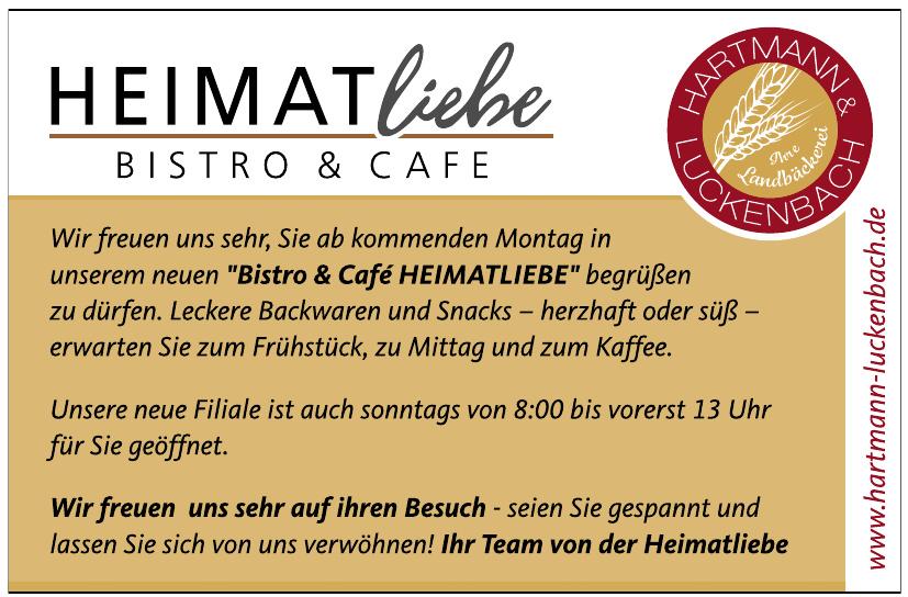 Hartmann & Luckenbach - Bistro & Cafe Heimatliebe