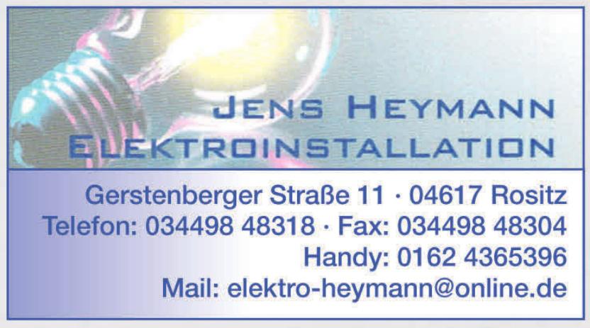 Jens Heymann Elektroinstallation