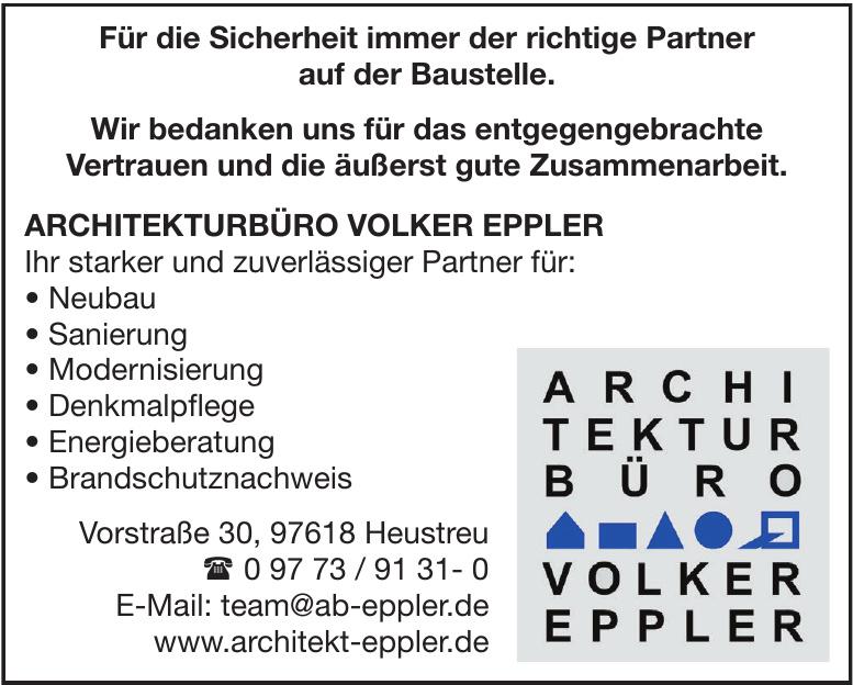ARCHITEKTURBÜRO VOLKER EPPLER