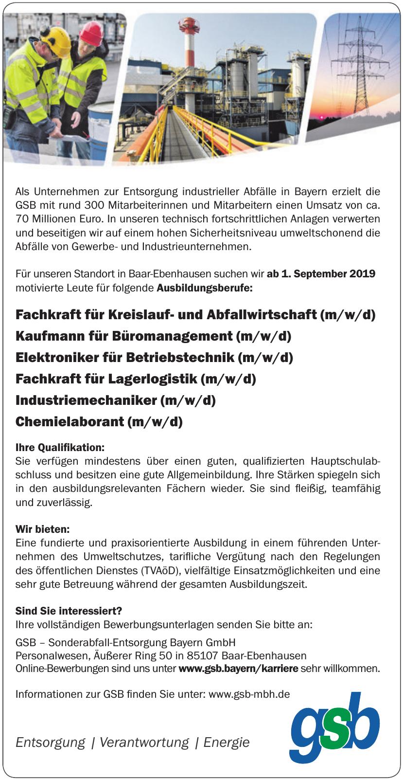 GSB – Sonderabfall-Entsorgung Bayern GmbH