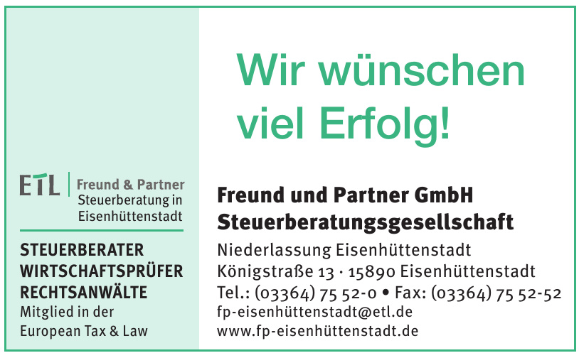 Freund und Partner GmbH Steuerberatungsgesellschaft